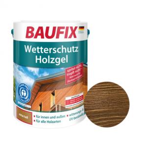 Лазурь для дерева Baufix Wetterschutz Holzgel гелевая грецкий орех - интернет-магазин tricolor.com.ua