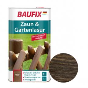 Лазурь для заборов Baufix Zaun & Gartenlasur темно-коричневая - интернет-магазин tricolor.com.ua