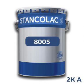 Краска Stancolac 8005 акрил-полиуретановая 2К А полуглянец для бетона, алюминия, пластика, стекла база для колеровки прозрачная