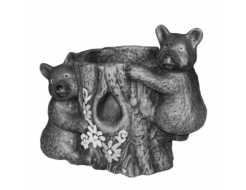 Форма цветочницы Медвежата D 16 см H 24 см RS стеклопластик, полиуретан