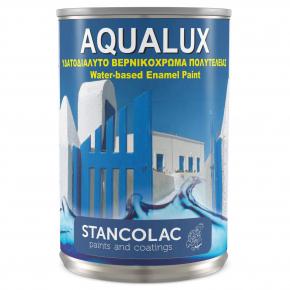Краска акриловая по металлу и дереву Stancolac 2090 Aqualux глянцевая база для колеровки белая - изображение 2 - интернет-магазин tricolor.com.ua