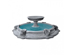 Форма для фонтана №7 RS 1,3х1,5м бассейн D 3/4,2м стеклопластик, полиуретан