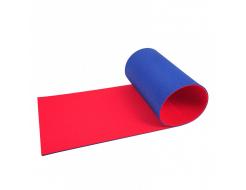 Коврик-каремат Izolon Привал 12 180х60 красно-синий с резинками - изображение 2 - интернет-магазин tricolor.com.ua