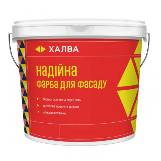 Краска для фасада Халва Надёжная латексная белая матовая