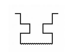 Форма столба распашная №34 с пазами АБС BF 12,5х12,5х280 - изображение 2 - интернет-магазин tricolor.com.ua