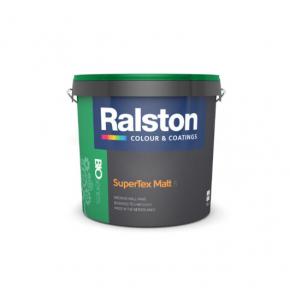 Краска интерьерная Ralston SuperTex Matt 5 BTR для стен и потолков матовая прозрачная