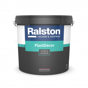 Краска акриловая Ralston PlastDecor BW удароустойчивая шелковисто-матовая белая