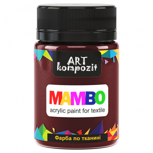 Акриловая краска для ткани Art Kompozit Mambo 22 умбра жженая