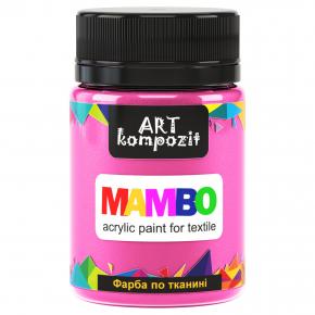 Акриловая краска для ткани Art Kompozit Mambo металлик 56 розовый персик