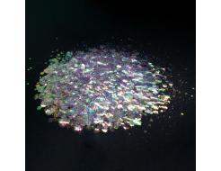 Глиттер голографический чешуя Tricolor Mermaid-101
