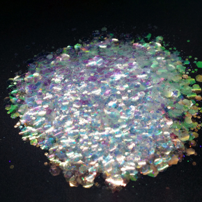 Глиттер голографический чешуя Tricolor Mermaid-105