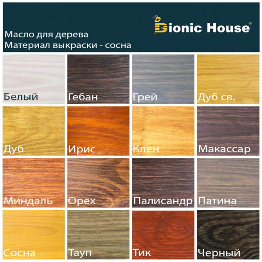 Масло-воск для дерева с карнаубским воском Bionic House в цвете Макассар - изображение 2 - интернет-магазин tricolor.com.ua