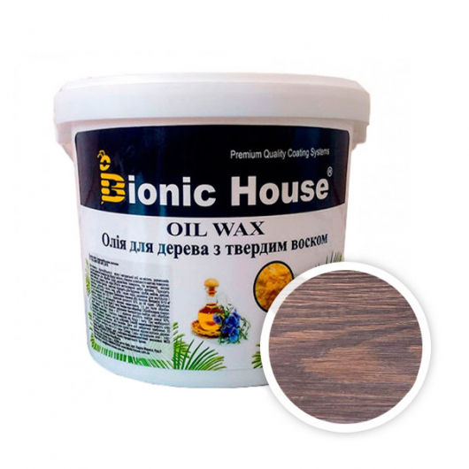 Масло-воск для дерева с карнаубским воском Bionic House в цвете Макассар - интернет-магазин tricolor.com.ua