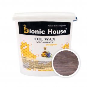 Масло-воск для дерева с пчелиным воском Bionic House в цвете Макассар