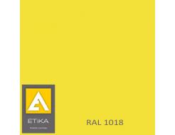 Краска порошковая полиэфирная Etika Tribo Желтая RAL 1018 матовая