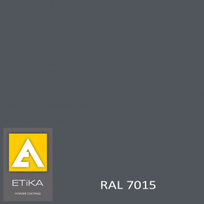 Краска порошковая полиэфирная Etika Tribo Серая RAL 7015 глянцевая