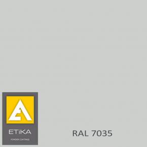 Краска порошковая полиэфирная Etika Elektro Светло-серая RAL 7035 шагрень матовая