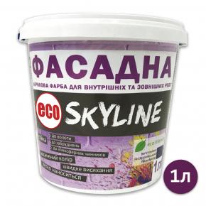 Краска акриловая Eco Skyline фасадная матовая белая - интернет-магазин tricolor.com.ua
