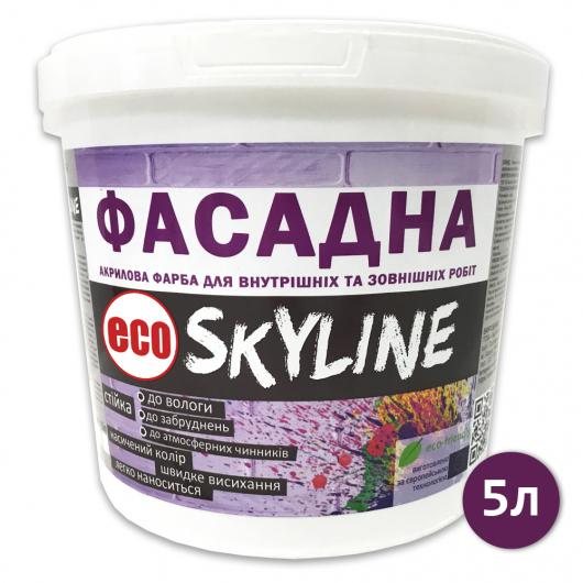 Краска акриловая Eco Skyline фасадная матовая белая - изображение 3 - интернет-магазин tricolor.com.ua