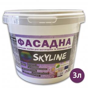 Краска акриловая Skyline фасадная матовая белая - изображение 4 - интернет-магазин tricolor.com.ua