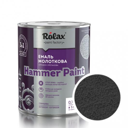 Эмаль молотковая Rolax Hammer paint Антрацитовая - интернет-магазин tricolor.com.ua