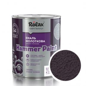 Эмаль молотковая Rolax Hammer paint Бордовая - интернет-магазин tricolor.com.ua