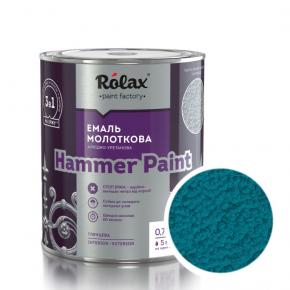 Эмаль молотковая Rolax Hammer paint Голубая - интернет-магазин tricolor.com.ua