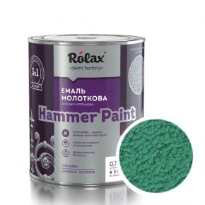 Эмаль молотковая Rolax Hammer paint Зеленая - интернет-магазин tricolor.com.ua