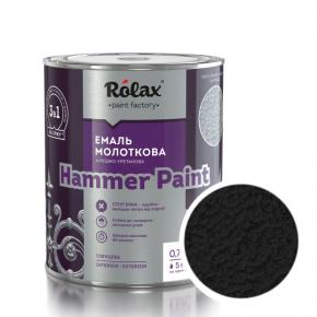 Эмаль молотковая Rolax Hammer paint Черная - интернет-магазин tricolor.com.ua