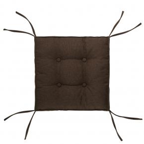Подушка на стул Dotinem Capitone aqua коричневая 40х40 - интернет-магазин tricolor.com.ua