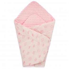 Плед детский плюшевый Dotinem Minky 75х85 розовый - изображение 2 - интернет-магазин tricolor.com.ua