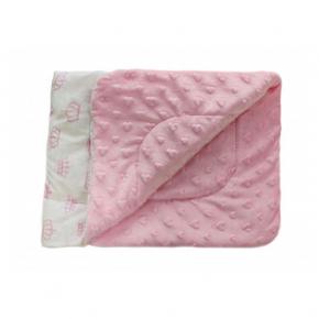 Плед детский плюшевый Dotinem Minky 75х85 розовый - интернет-магазин tricolor.com.ua