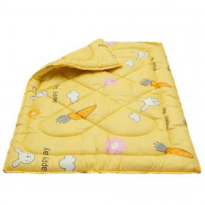 Одеяло Dotinem Чаривный сон Синтепоновое 110х140 детское желтое - изображение 2 - интернет-магазин tricolor.com.ua