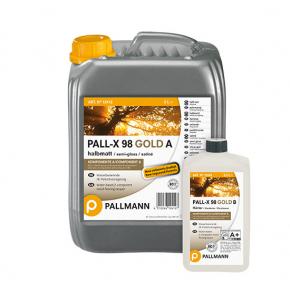 Лак для пола водный Pallmann Pall-X 98 Gold 2К полуматовый износоустойчивый