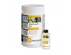 Краска для разметки спортивных залов Pallmann Sport-color 2К RAL 5012 светло-синяя
