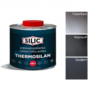 Краска термостойкая кремнийполимерная Silic Thermosil-500 черная