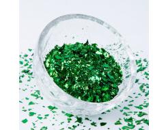 Глиттер Хлопья Tricolor BX до 5 мм зеленый