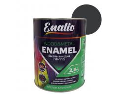Эмаль алкидная Emalio ПФ-115 Темно-серая