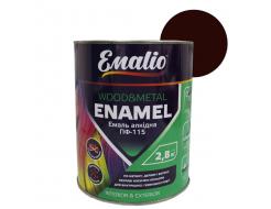 Эмаль алкидная Emalio ПФ-115 Красно-коричневая