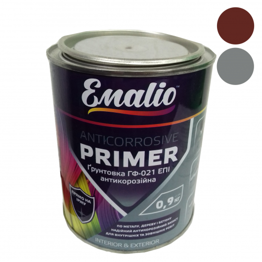 Грунт алкидный Emalio ГФ-021 Красно-коричневый антикоррозионный