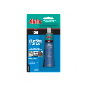 Универсальный силиконовый герметик в тюбике Akfix 100E белый - изображение 4 - интернет-магазин tricolor.com.ua