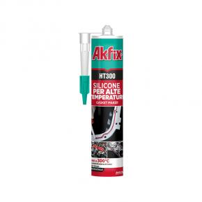 Термостойкий силиконовый герметик Akfix HT300°С красный - изображение 2 - интернет-магазин tricolor.com.ua