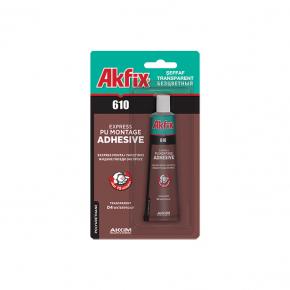 Полиуретановые прозрачные монтажные жидкие гвозди Akfix PU610 (тюбик)