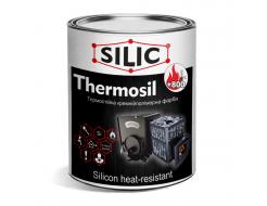 Краска термостойкая кремнийполимерная для печей и каминов Silic Thermosil-800 черная
