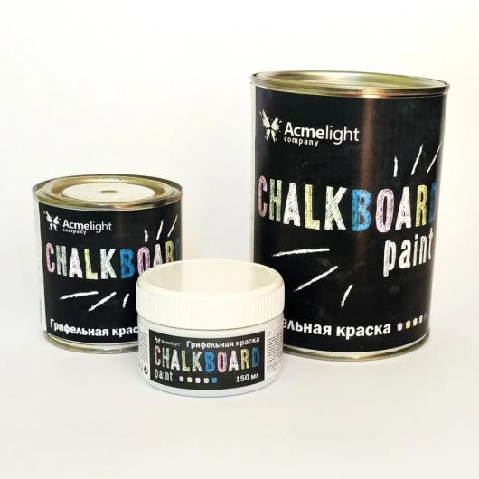 Грифельная краска Acmelight Chalkboard RAL 9004 черная - изображение 3 - интернет-магазин tricolor.com.ua