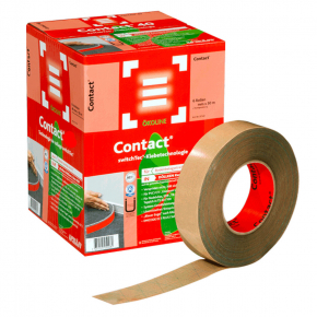 Клейкая лента Uzin Contact для ковровых плинтусов 70 мм 50 м
