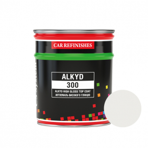 Автоэмаль CS System Alkyd 300 алкидная 040 Белая Тойота (0,8 л)