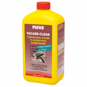 Средство Pufas Facade-Clean удаляет соли и нитратные выделения
