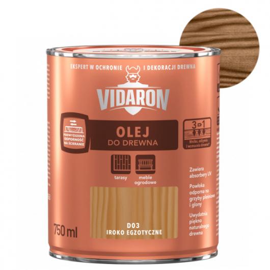 Масло для древесины Vidaron Olej do drewna D04 королевский палисандр - интернет-магазин tricolor.com.ua