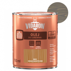 Масло для древесины Vidaron Olej do drewna D05 серый антрацит - интернет-магазин tricolor.com.ua